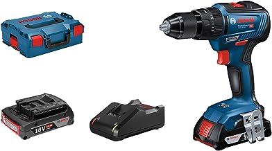 Bosch Professional GSB 18V-55 - Taladro percutor a batería (2 baterías x 2.0 Ah, 18V, 55 Nm, en L-BOXX)