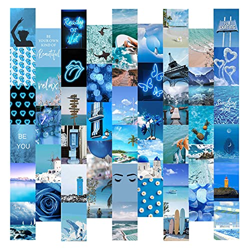 Kit de Collage de Pared para Fotos Estéticas Upkey 50 Piezas Kit de Collage de Pared Vinilos Pared Kit de Posters para Pared Fotos Pared Decoracion Fotos Decoracion Habitacion Aesthetic