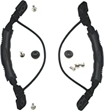 T O K G O - 2 PCS Kayak Canoe Boat Side Mount Carry Handle with Bungee Cord Accessories Black