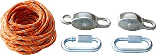 HABA Terra Kids Block and Tackle Rope and Pulley System - Perfect Tinkerers Kit for Outdoors or Inside with High Ceilings - Ages 6+
