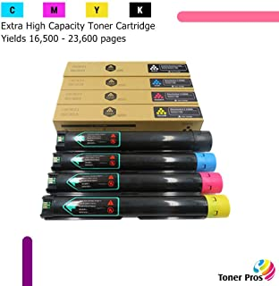 Toner Pros (TM) Compatible [Extra High Capacity] Toner for Xerox Versalink C7020/C7025/C7030 Printer (4 Color Pack) - Black 23,600 and Colors 16,500 Pages (106R03737, 106R03738, 106R03739, 106R03740)