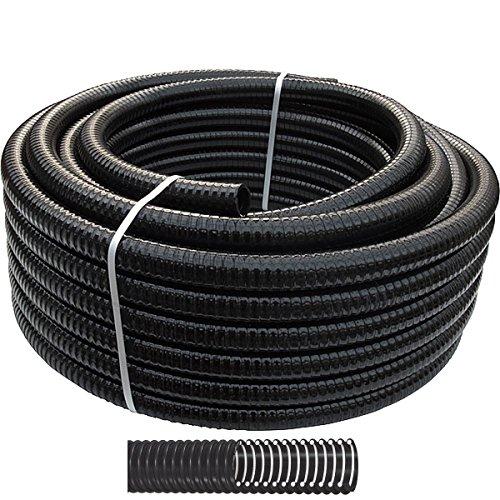 15m Teichschlauch Spiralschlauch 40mm Schwarz