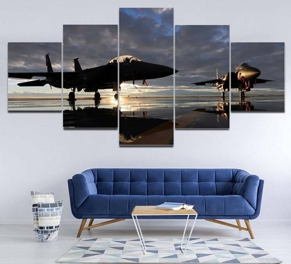5 Pieces Prints Wall Art Military Paintings Eagle Genuine Free Shipping Paint Airplane Time sale