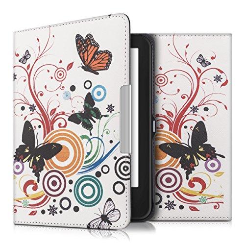 kwmobile Funda Compatible con Tolino Shine 2 HD - para eReader - Mariposas Multicolor