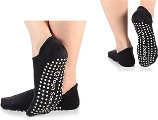 SANIQUEEN.G, 2 Pares Antideslizantes Calcetines para Mujer, Antideslizantes Calcetines para Yoga, Fitness, Gimnasio, Pilates, Danza, Ballet