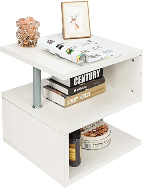 Modern Contemporary Multilevel S Shaped Multi Level Accent End Table
