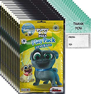 "Bendon Publishing Disney Junior Puppy Dog Pals Party Favors (12 Play Packs and 12 ""Thank You"" cards"