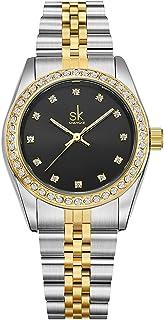 Women Easy Reader Date Expansion Watch Ladies Quartz Clock Female Bracelet Quartz Wrist Watch 8126
