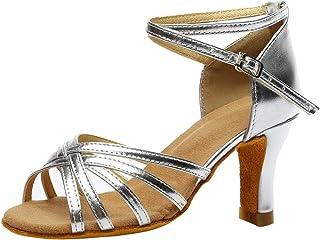 GRIPY Sandals for Women Fashion Dancing Rumba Waltz Prom Ballroom Latin Salsa Dance Sandals Shoes Dress Sandals Women