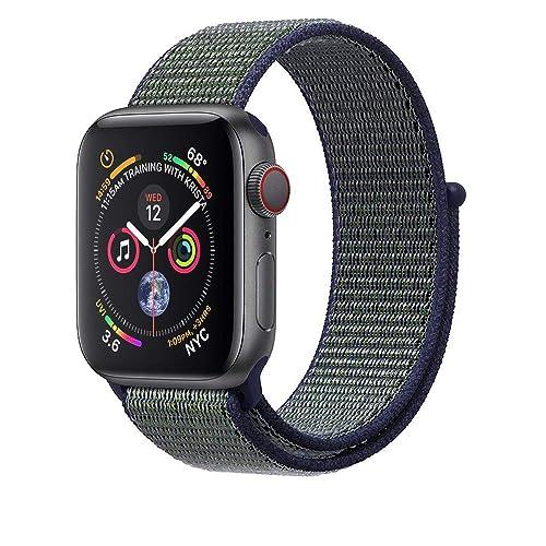 Corki pour Apple Watch Bracelet 38mm 40mm 42mm 44mm, Nylon Sport Loop Tissé Bracelet de Remplacement Bande pour iWatch Apple Watch Séries 4, Séries 3, Séries 2, Séries 1