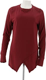 AnyBody Loungewear Cozy Knit Crossover Top A292757