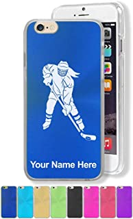 Case Compatible with iPhone 7 and iPhone 8, Hockey Player Woman, Personalized Engraving Included