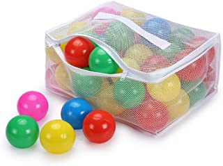 COLOBOBO Play Ball Pit Balls for Kids - Plastic 2.7inches with Multicolor Color Balls for Toddlers Ball Pit Play Tent and Pool with Durable mesh Bag for Party Decorations (Multicolor)