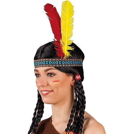 Indianer-Stirnband mit Federn Kopfschmuck Karneval Fasching