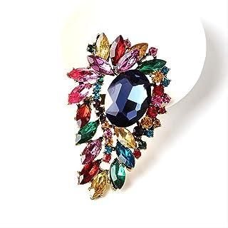 CBCJU Moda Personalidad Creativa Broche de Cristal Accesorios de Ropa de Mujer Regalo de Pareja 8.0 * 5.2cm