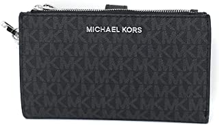 Michael Kors Jet Set Double Zip Wristlet Black PVC