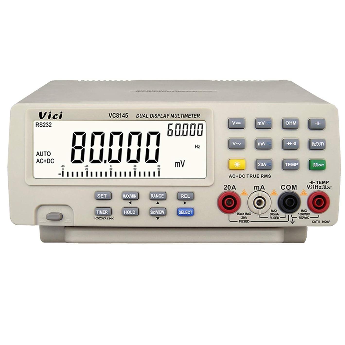 精巧なアラブ人ペルー精密測定器 マルチメーター オートレンジ 80000カウント デジタル?マルチメーター テスター バックライト デジタル電圧計 VC8145 (Edition : EU Plug)