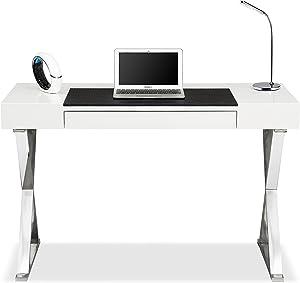 Centurion Supports Adonis Blanco Brillante y Cromo ergonómica Oficina en casa–Escritorio para Ordenador