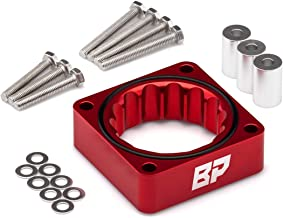 BlackPath - For Jeep Wrangler + Cherokee + Grand Cherokee Throttle Body Spacer Kit (Red) T6 Billet