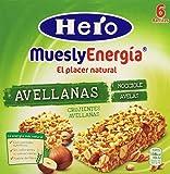 Hero Muesly Energía Barritas Crujientes de Avellanas Pack 5 Cajas de 6x25 g