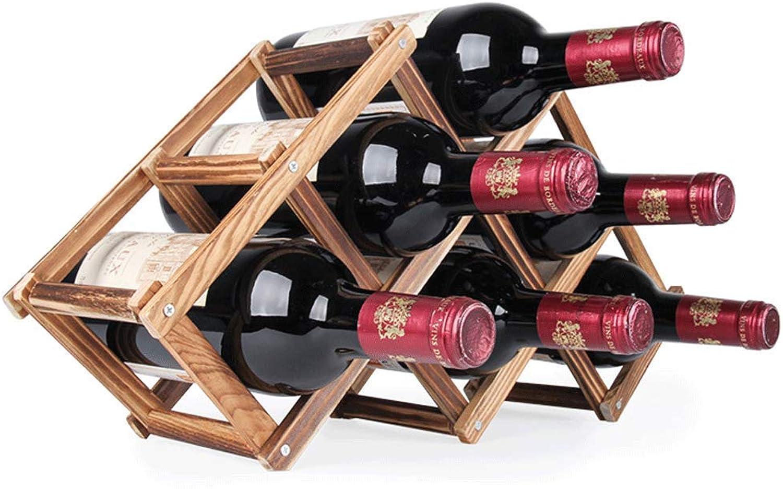 Red Wine Shelf Wine Rack Solid Wood Wine Shelf Display Wine Rack (color   2, Size   C) (color   2, Size   B)