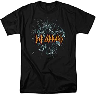 Def Leppard Self Titled 80s Rock Album T Shirt & Stickers
