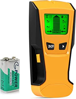 Upgraded 5 in 1 Stud Finder Wall Detector - Electronic Stud Sensor Wall Scanner Center Finding - with Battery LCD Display for Wood Metal Studs AC Wire Detection