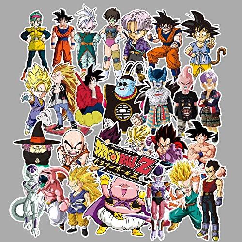 Dragon Ball - Juego de 100 pegatinas personalizadas para monopatín, diseño de dibujos animados