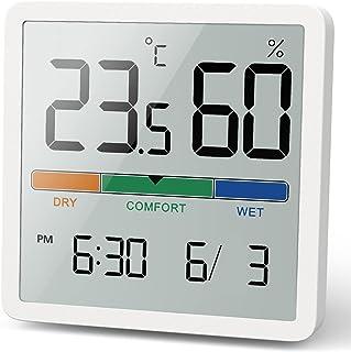 NOKLEAD Digitale thermo-hygrometer, draagbare thermometer, hygrometer, voor binnen, met hoge nauwkeurigheid, temperatuur e...