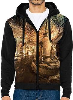 Hoodies Sweatshirt/Men 3D Print Waterfall,Woodland Nature Spring,Sweatshirts for Men Prime