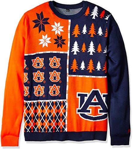 Klew NCAA Busy Block Sweater, Large, Auburn Tigers