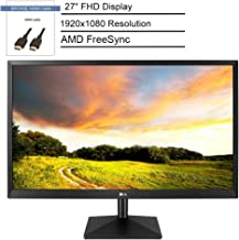 """LG 27"""" FHD Gaming Monitor with AMD FreeSync, 1920x1080 Resolution, 16:9 Aspect Ratio, 1000:1 Contrast Ratio, 2ms Response ..."""