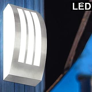 LED Außen Haus Wand Spot Lampe Edelstahl Leuchte Garten Hof Veranda Balkon Licht