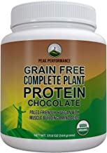 Organic Paleo Grain Free Plant Based Protein Powder. Complete Raw Organic Vegan Protein Powder. Amazing Amino Acid Profile and Less Than 1g of Sugar. Hemp Protein Powder, Pea Protein Powder Chocolate