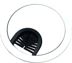 Gloss White Metal Cable Grommet - 2 Piece