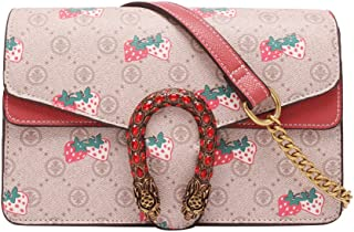 Strawberry Package Printing Diamond Smugglers Chain Bag Fashion Bag Handbag 2020 New Shoulder Bag Messenger,Strawberry wit...
