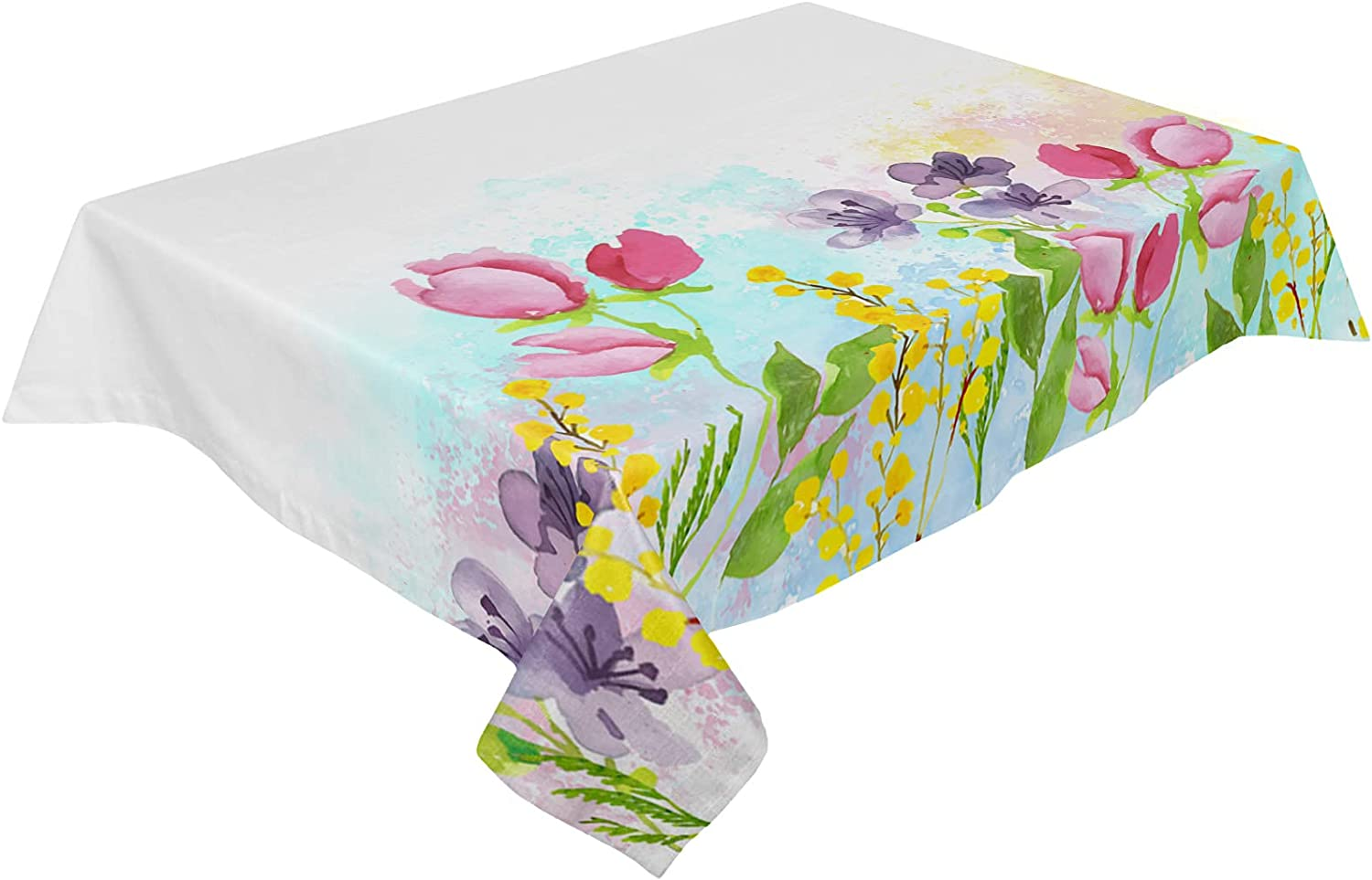 Cotton Linen Tablecloth National uniform free shipping Colorful Outlet ☆ Free Shipping Tabl Floral Wrinkle-Free Blurry