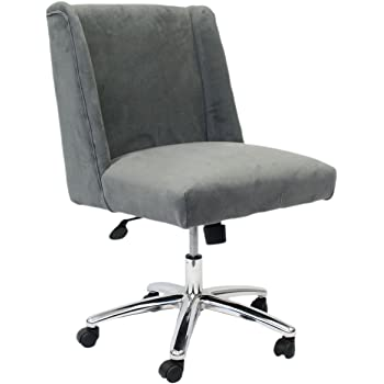 Amazon Com Serta Valetta Upholstered Home Office Desk Modern Swivel Accent Chair Memory Foam Seating Gray Furniture Decor