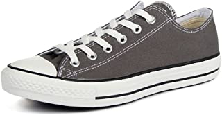 Converse Chuck Taylor All Star Seasonal Ox Men Round Toe Canvas Gray Sneakers (Charcoal)
