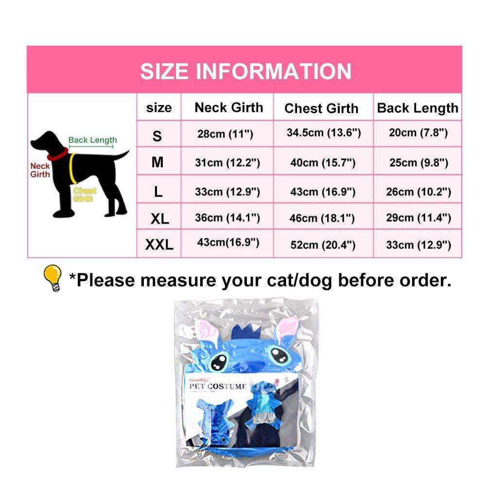 Lilo & Stitch de punto de perro disfraz disfraz Outfit: Amazon.es ...