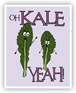 Oh Kale Yeah Funny Food Pun Poster 11 x 14