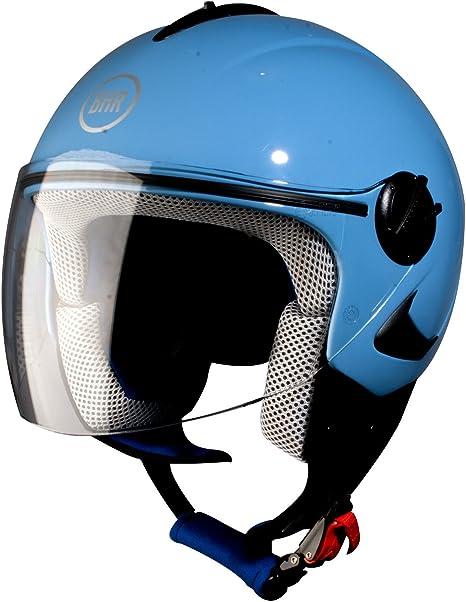 Bhr Motorradhelm FÜr Kinder Modell Baby 706 Farbe Hellblau Mit Aufklebern GrÖße Ym Auto