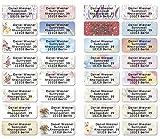 Mix gemischt Adress-Etiketten - Adress-Aufkleber Sticker mit Ihrem Wunschtext 53x