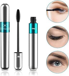 Midenso 4D Lash Mascara Silk Fiber Eyelash Mascara Waterproof Thicker Longer Voluminous Eyelashes Makeup Long Lasting Smudge Proof with Hypoallergenic Ingredients Non-toxic and Natural Silver