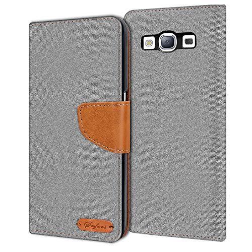 Verco Galaxy S3 Custodia per Cellulare, Caso Tessuto per Samsung Galaxy S3 Neo Cover Tessilo Portafoglio Case, Grigio