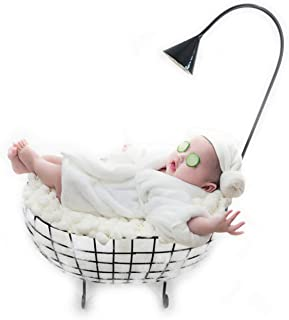 Newborn Baby Photography Props Basket, Baby Photo Props Bathtub, Professional Photography Posing Prop for Boy Girl Black