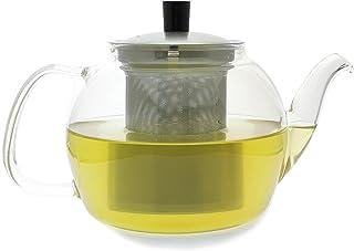 hogar con filtro y resorte Drinkware tipo ternero ideal para oficina Tetera de cristal resistente al calor de 750 ml