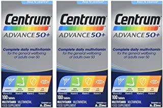 3 x Centrum Advance 50+ 100 Comprimidos