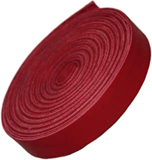 TOFL Leather Strap Cardinal Red 1/2 Inch Wide and 72 Inches Long