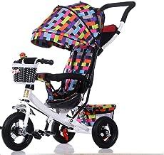 Sillas de paseo Triciclo de niño portátil Carrito de bicicleta Carrito extraíble para lavar Transformador Triciclo Sillón Silla de paseo 8M ~ 5Y Sillas ligeras (Color : C)